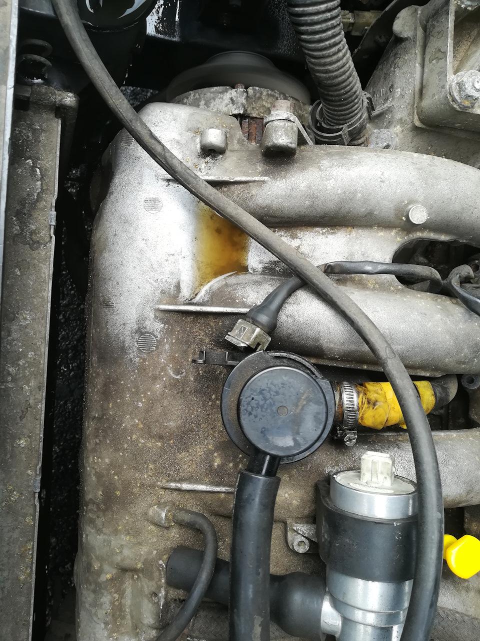 Промывка системы охлаждения, и снятие радиатора и разбор его.