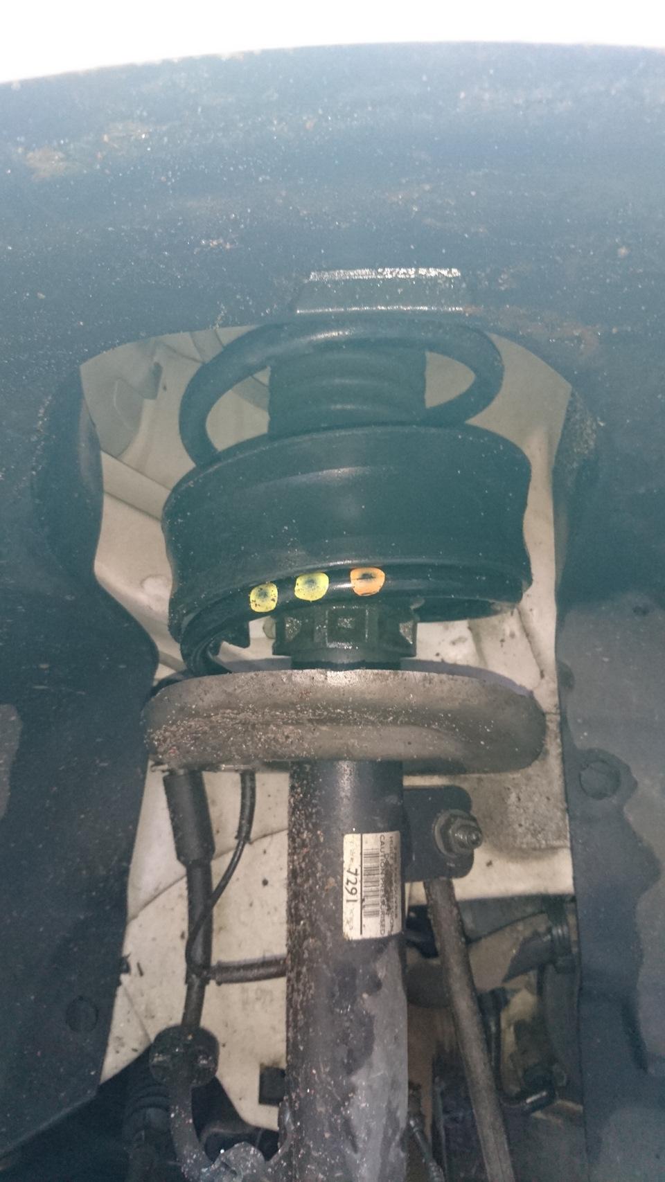 Проставки в пружины и новые колеса