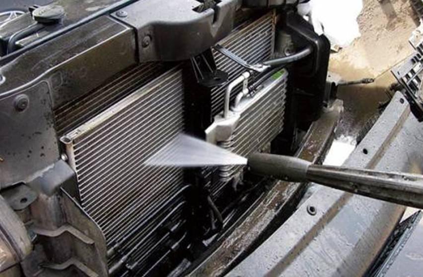 Помыл радиаторы.