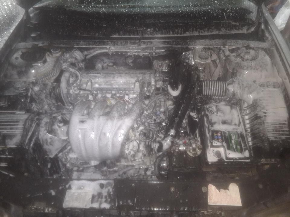 Мойка двигателя. Установка защиты двигателя