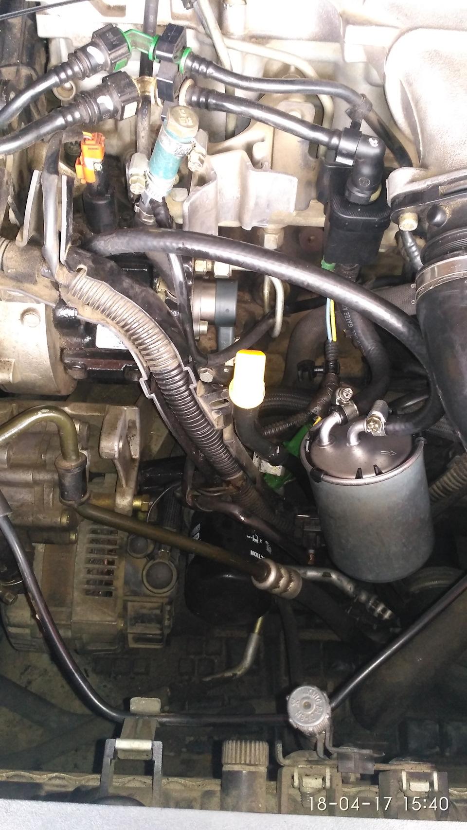 Клапан обратки топливного фильтра