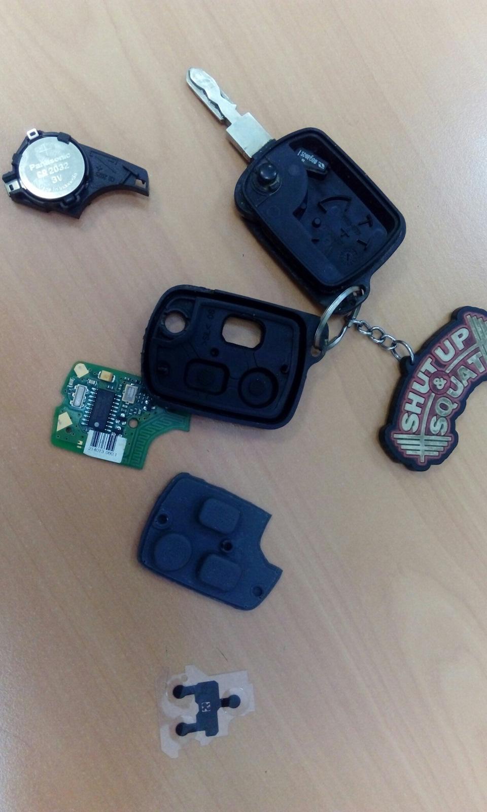 Кнопки в ключ Peugeot 607
