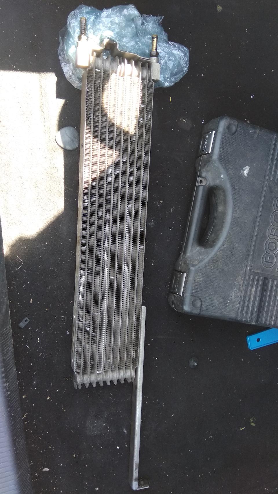 Замена теплообменника АКПП на воздушный радиатор.