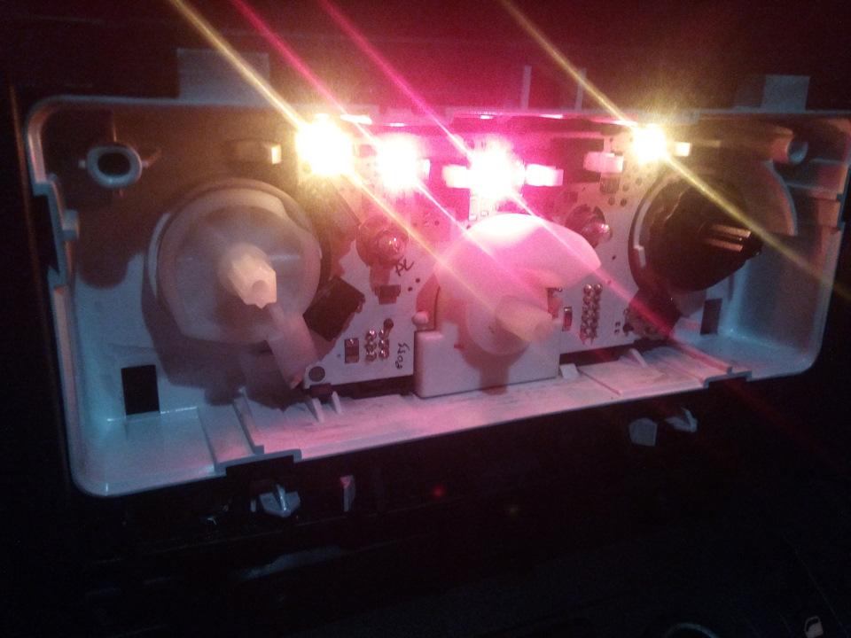 Замена лампочек панели управления печкой + новый щуп