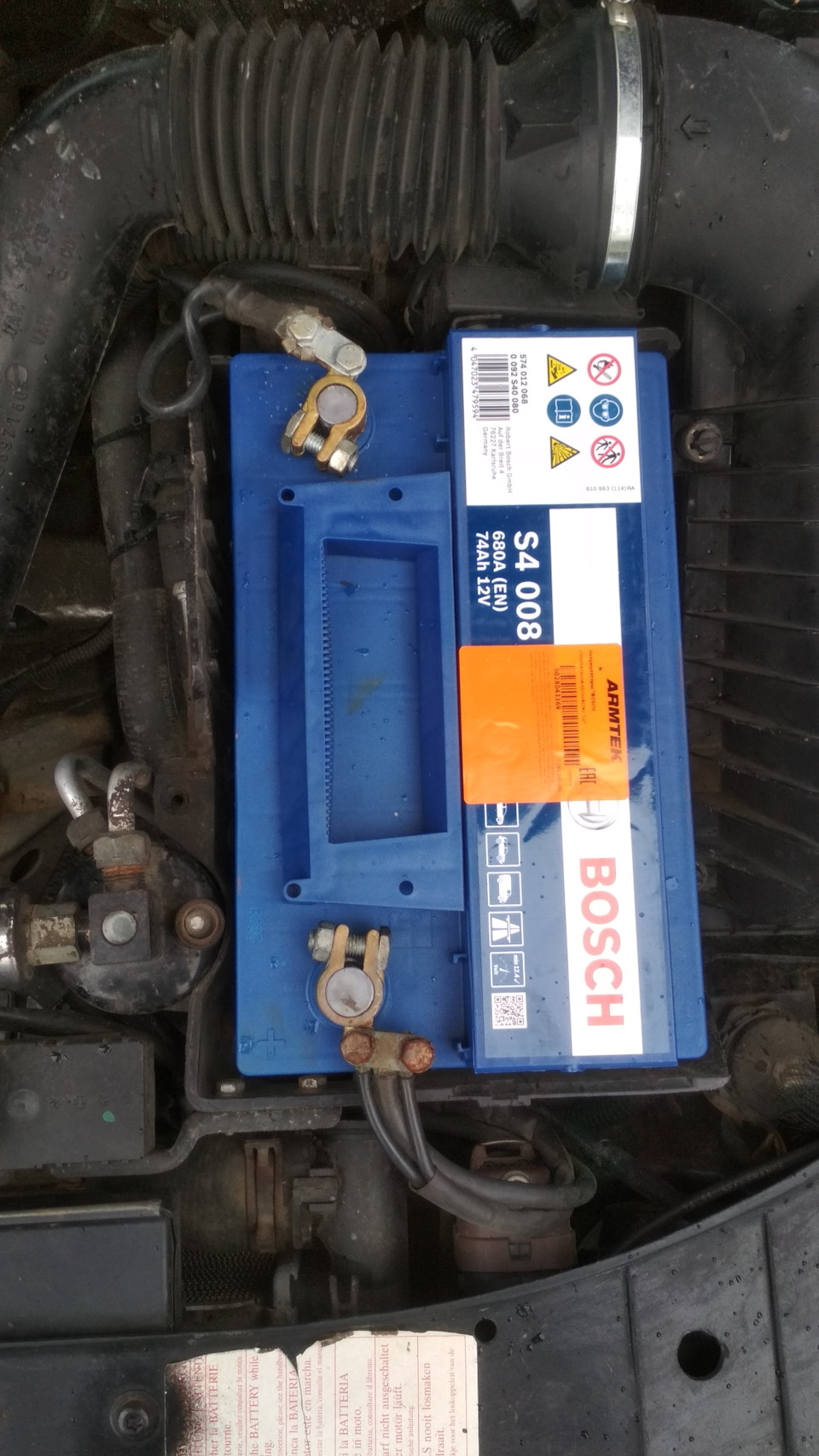 Купил АКБ Bosch 74ah