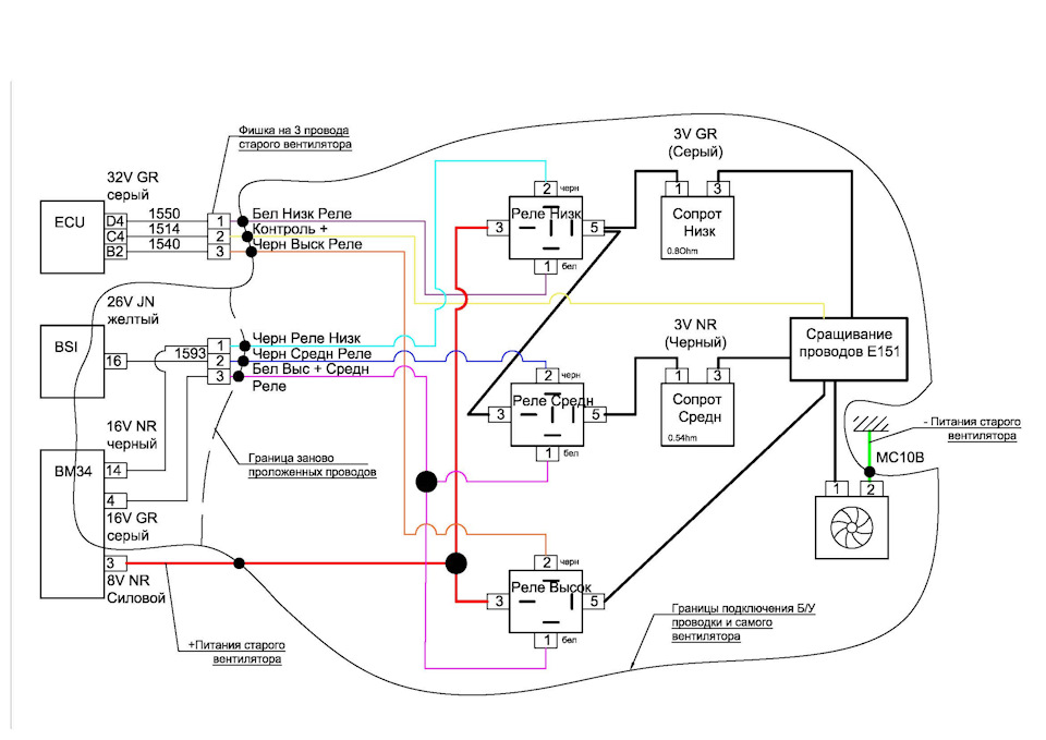 Даунгрейт вентилятора радиатора. Или как заменить умный вентилятор на обычный.